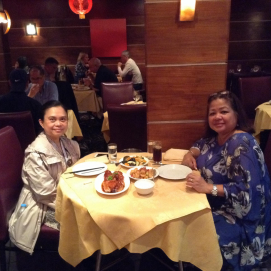 Dinner at London's China Town
